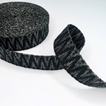 Jacquard-Gurtband 40 mm schwarz oliv