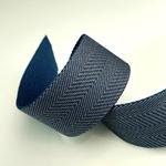 Gurtband 40 mm Fischgrat blau beige