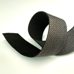 Gurtband 40 mm Fischgrat schwarz beige