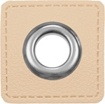 Ösen Patches 11mm creme silber