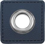 Ösen Patches 11mm navy silber