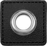 Ösen Patches 11mm schwarz silber