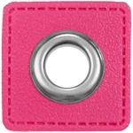 Ösen Patches 11mm pink silber