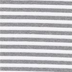 GREY STRIPE Jersey Streifen grau weiß