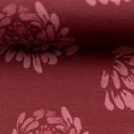 JESSE Jersey Blüten burgundy