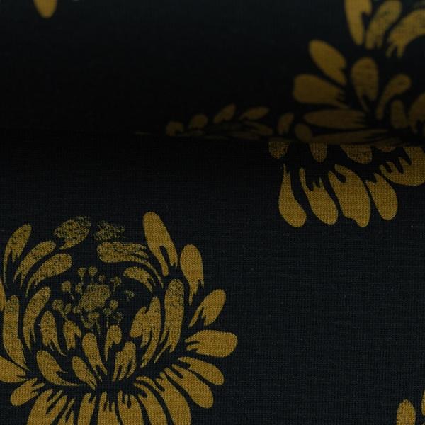 JESSE Jersey Blüten schwarz
