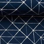 THEO Jersey Geo-Muster dunkelblau