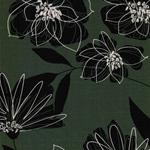 EAST FLOWER Sweat Blätter grün schwarz