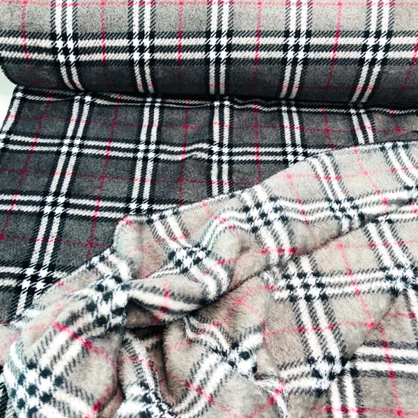 KADRI-KARO flauschiger Fleece grau