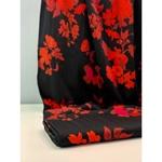 VALENTA Viskose-Twill Blüten schwarz rot