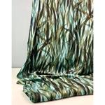 CIANNA Viskose-Twill Blätter aqua grün