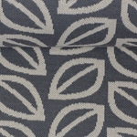 FALL LEAVES Jacquard grau hellgrau