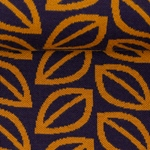 FALL LEAVES Jacquard violett curry