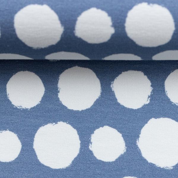 ROSIE Sweat Dots helles jeansblau weiß