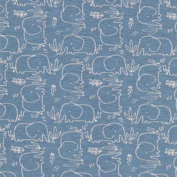 BENNO Jersey Melange Elefanten hellblau