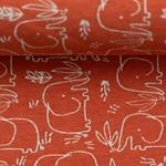 BENNO Jersey Melange Elefanten orangerot