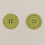 Baumwollknopf 25 mm 4-Loch hellgrün