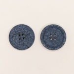 Baumwollknopf 25 mm 4-Loch blau