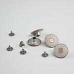 Jeanspatentknopf 20 mm weiß kupfer