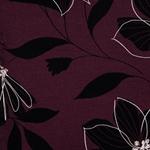 EAST FLORA Viskosejersey Blüten pflaume