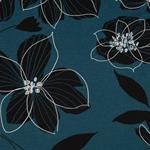 EAST FLORA Viskosejersey Blüten blaupeto