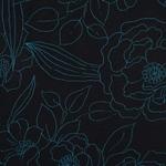 PEORIA Viskosejersey Blüten schwarz