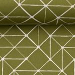 KURT Webware Linien olivgrün weiß
