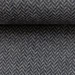 DIEGO Tweed Fischgrat grau blau