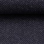 DIEGO Tweed Fischgrat dunkelblau blau