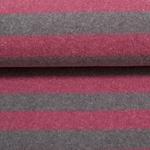 LENN Feinstrick Streifen rosa grau