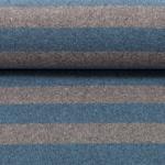 LENN Feinstrick Streifen jeansblau grau