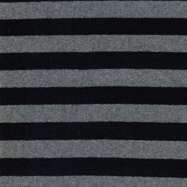 LENN Feinstrick Streifen dunkelblau grau