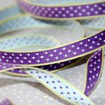 Aspegren Webband Dots lila lime