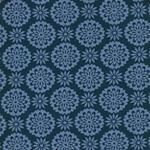 Stenzo Blumenornamente jeansblau