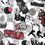 Swafing GRAFFITI grau schwarz