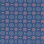 Hilco HILDE Ornament Viereck blau