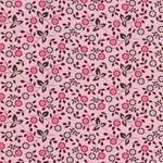 Hilco HILDE Blumenranken rosa braun