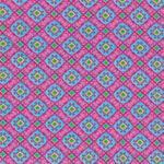 Hilco HILDE Ornamente hellblau rosa