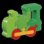 Lanka Kade Holzpuzzle grüne Lokomotive