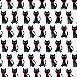 Kokka TR�FLE Katzen creme schwarz