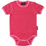 Maxomorra Kurzarm-Body STRIPE rot pink