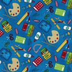 Wilmington Prints SCHOOL DAYS blau bunt