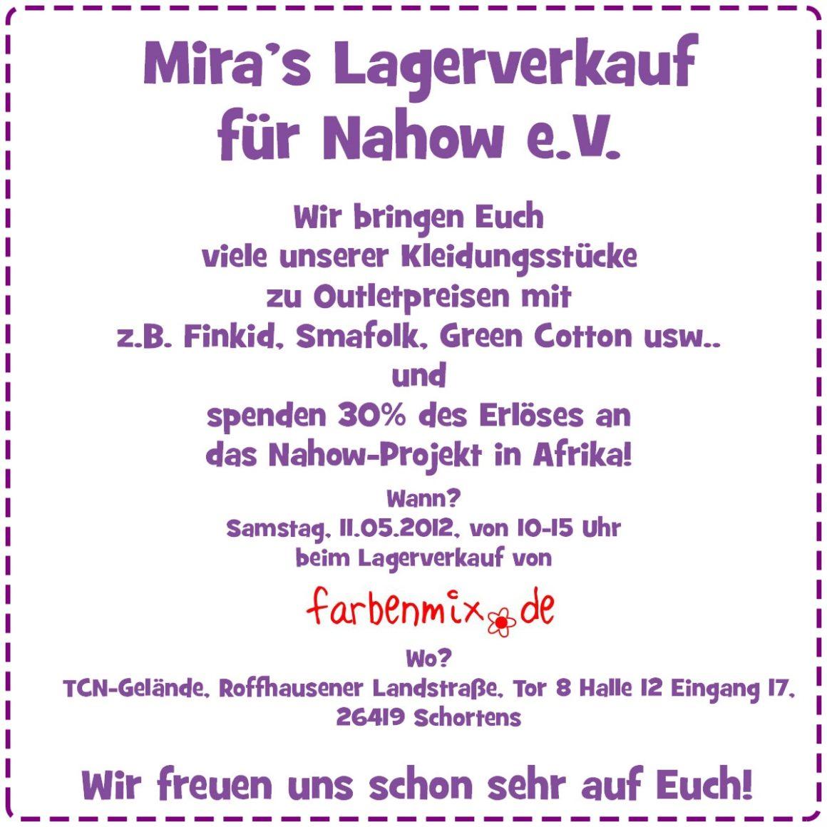 Mira's Lagerverkauf beim Farbenmix-Lagerverkauf!