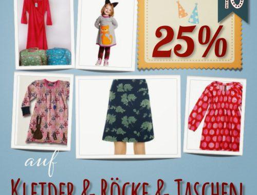Türchen N°10 im Adventsmirakel: 25% auf Kleider, Röcke & Taschen!