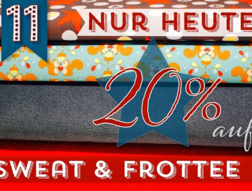 Türchen N°11 im Adventsmirakel: 20% Rabatt auf Sweatstoffe und Winterfrottee!