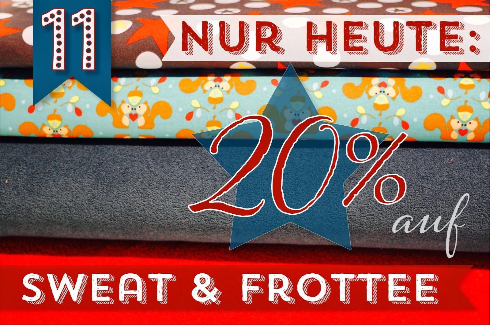 Türchen N°11 im Adventsmirakel: 20% Rabatt auf Sweatstoffe und Winterfrottee! 2