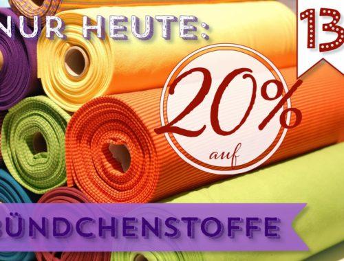 Türchen N°13 im Adventsmirakel: 20% auf Bündchenstoffe!