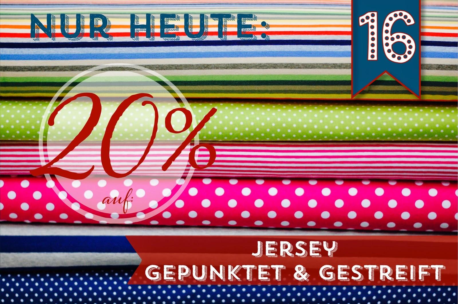Türchen N°16 im Adventsmirakel: 20% Rabatt auf Jersey gepunktet & gestreift! 2