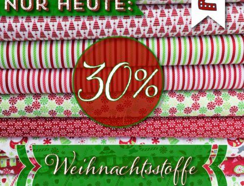 Türchen N°2 im Adventsmirakel: 30% auf Weihnachtsstoffe!