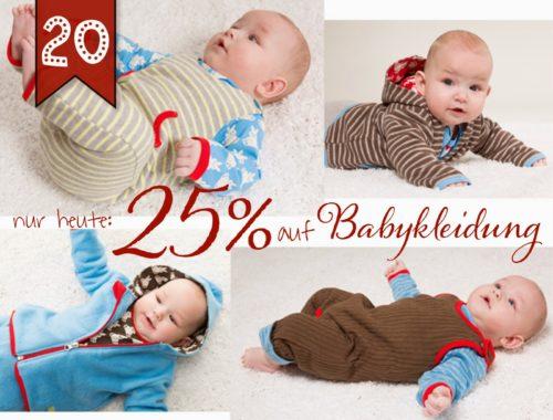Türchen N°20 im Adventsmirakel: 25% auf Babykleidung!